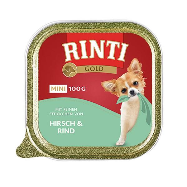 Rinti Gold Mini mit feinen Stückchen von Hirsch und Rind