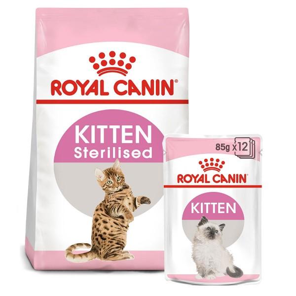 ROYAL CANIN KITTEN Sterilised 3,5kg + Kitten in Soße 12x85g