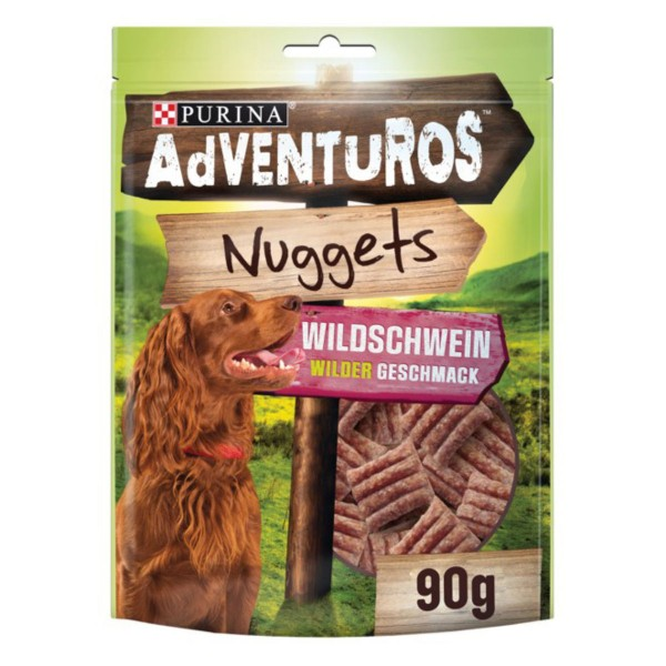 Purina AdVENTuROS Nuggets, Hundeleckerli fettarm mit Wildschweingeschmack