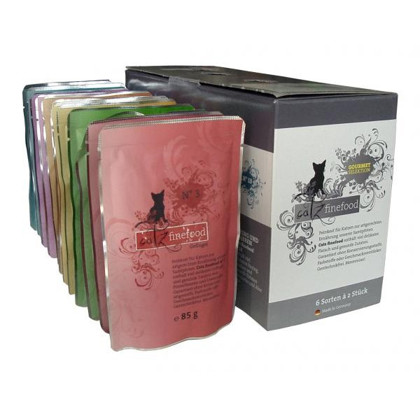 CATZ Finefood - 12x85g Multipack Pouches No. 3-13
