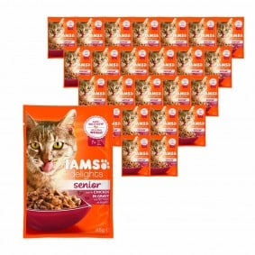 Iams Delights Katzen-Nassfutter in Soße Senior 24x85g