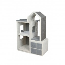 Trixie Cat Tower Gala weiß/grau