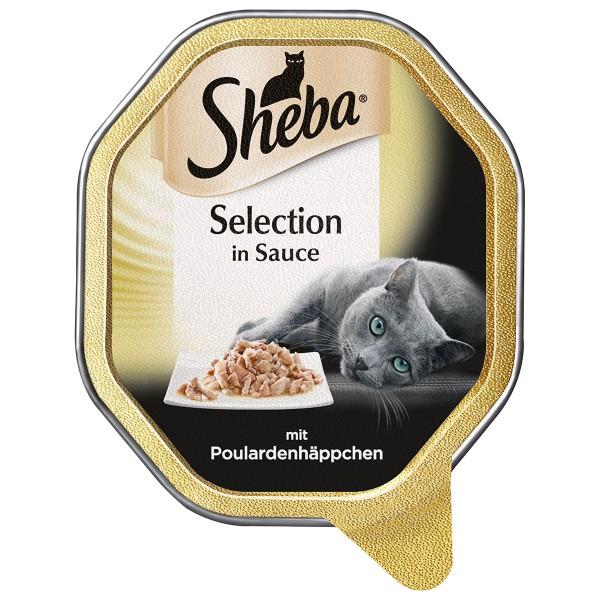 Sheba Katzenfutter Selection in Sauce Poulardenhäppchen