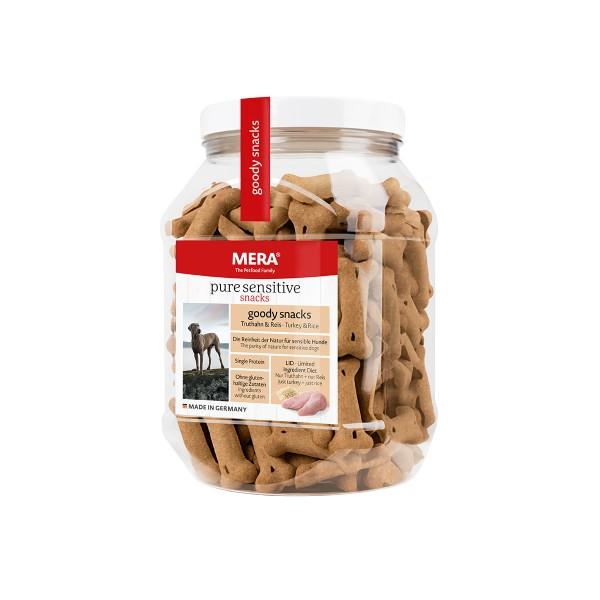 MERA pure sensitive goody snacks Truthahn&Reis 600g