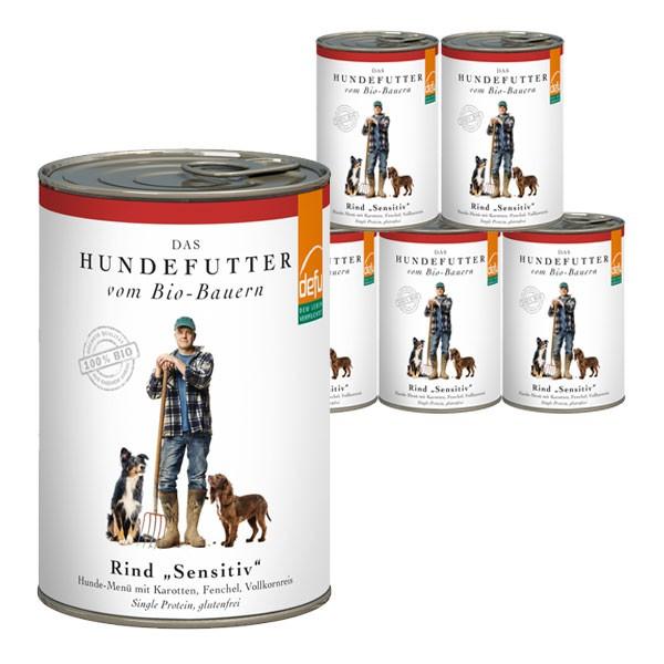 Defu Hundefutter Bio Rind Glutenfrei