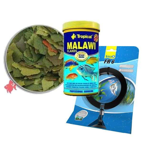 Tropical Fischfutter Malawi Flakes 1000ml + Tetra FR 6 Futtering