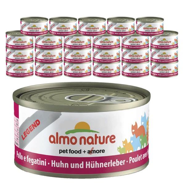 Almo Nature Legend Katzenfutter 24x70gHuhn & Leber