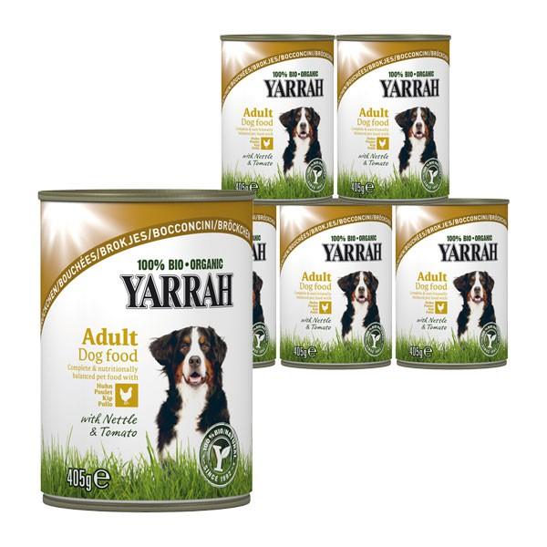 Yarrah Hundefutter Bio Bröckchen Huhn, Brennessel, Tomate