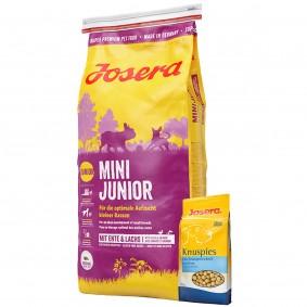 Josera MiniJunior 15kg + Josera Knuspies 1,5kg GRATIS