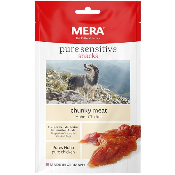 MERA pure sensitive snacks chunky meat Huhn