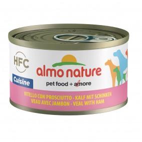 Almo Nature HFC Cuisine Dog Kalb mit Schinken 95g 5+1 gratis
