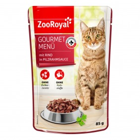 ZooRoyal Gourmet Menü mit Rind in Pilzrahmsauce